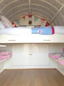 inside the gypsy caravan
