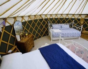 A yurt called Bramley at Orchard Retreat