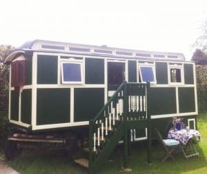 A showmans caravan at Gypsy Hideaway