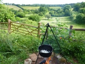 outdoor cooking at orchard wagon 7
