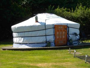 A yurt at Hemsford glamping site