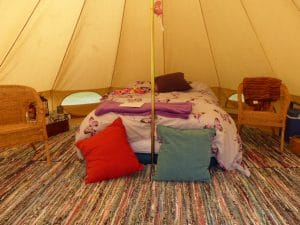 Bell tent at Bowacre glamping site
